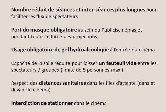 DISPOSITIONS SANITAIRES FESTIVAL